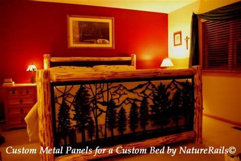 1000 ideas about log bed frame on log bed