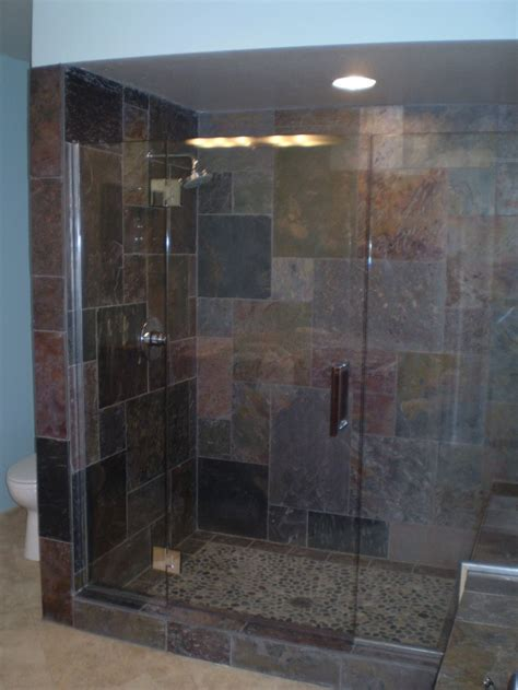 Bathroom Shower Glass Door Cleaner Clean Mordern Glass Shower Doors With Slate Tile Like The