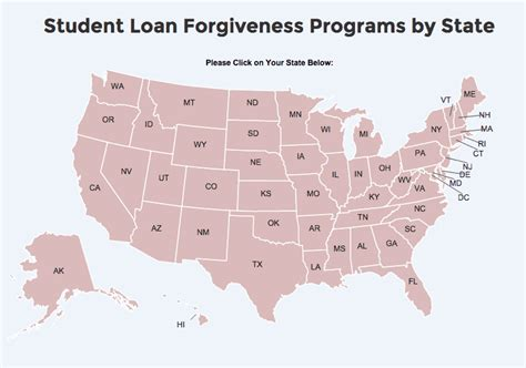 student loan programs student loan forgiveness programs by state