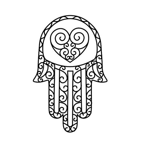 design outline meaning free simple hamsa coloring pages
