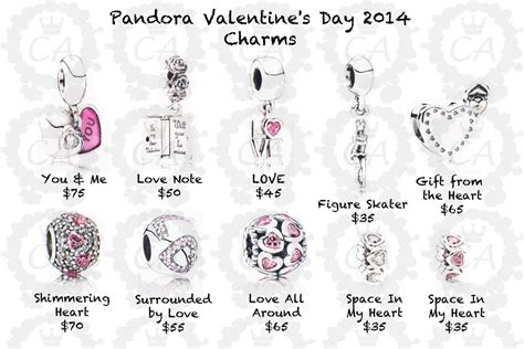 valentines day pandora charms pandora s day collection 2014 prices charms addict