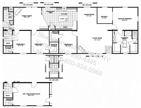 Houseplan With Front Kitchen by House Floor Plans With Two Master Also Bedrooms