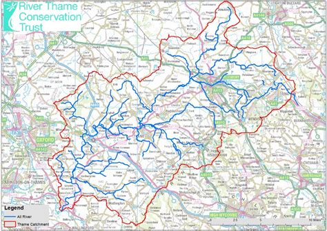 river thames catchment area map about the river thame river thame