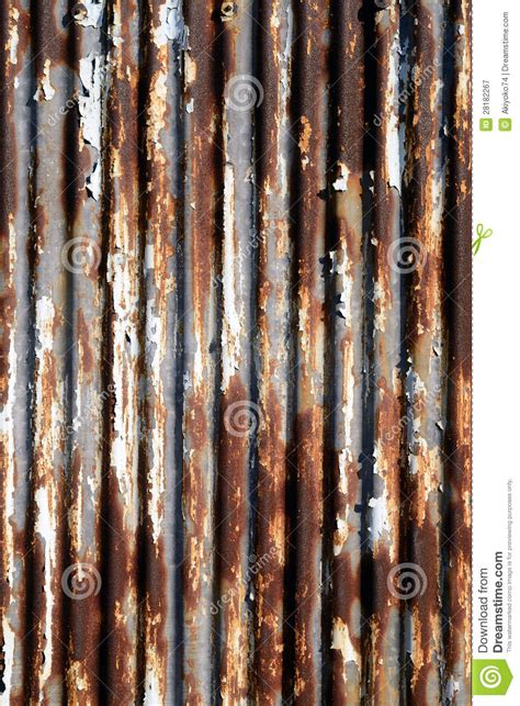rusted corrugated metal royalty  stock photography