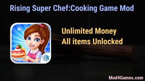 Mod Game Unlimited Money | rising super chef cooking game unlimited money game mod