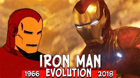 iron man evolution movies cartoons