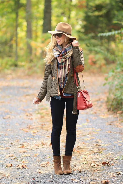 { Weekend Fall fillment: Field jacket, Plaid blanket scarf