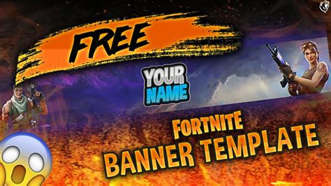 fortnite banner template free gfx fortnite banner template tutorial