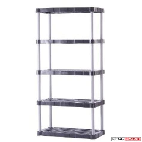 shelving unit plastic large peaks list4all