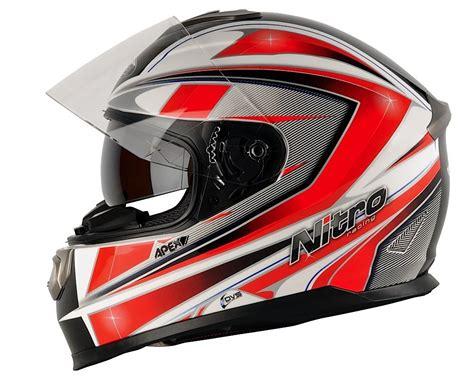 Motorradhelm Aufkleber Suzuki by Nitro Apex 1100 Dvs Motorrad Helm Motorradhelm Weiss Rot