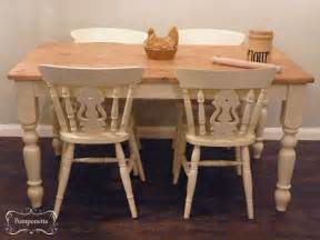 kitchen tables and chair sets farmhouse dining table and chairs by pomponette vintage