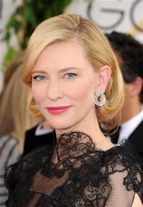 Get The Look Cate Blanchetts Feathered Tresses by Get The Look Cate Blanchett S Hair And Makeup Golden