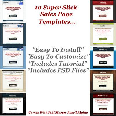 sales slick template 10 slick sales page templates templates