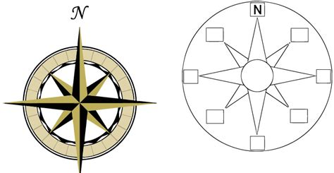 free coloring page compass rose blank compass clipart best