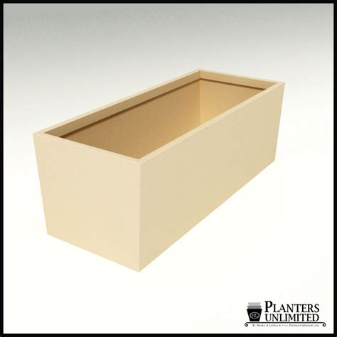 modern tapered fiberglass commercial planter 72in l x 30in