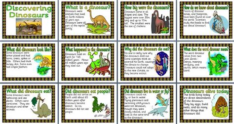 printable dinosaur poster ks2 science teaching resource discovering dinosaurs