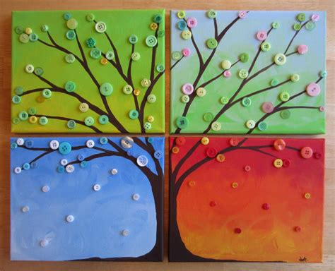 Button Painting giveaway win a four seasons button tree busted button