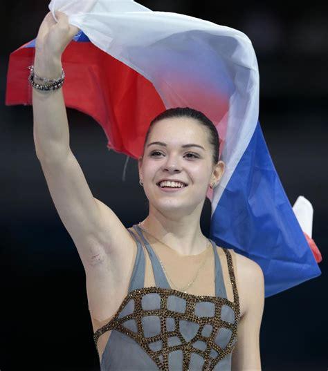 celeb armpit 2014 adelina sotnikova women s figure skating free program