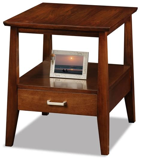 Solid Wood End Tables by Delton Collection 20 W X 24 H Solid Wood End Table With One Drawer And Display Shelf
