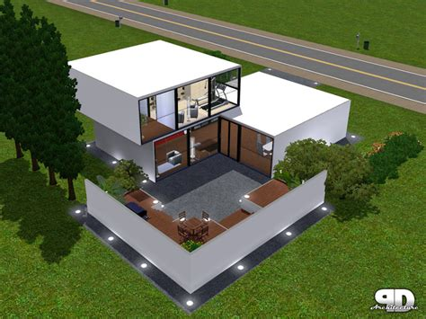 cubic house design mod the sims cubic house