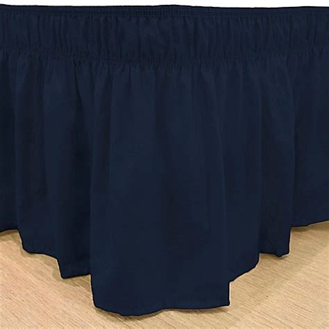 navy bed skirt buy easyfit solid queen king ruffled bed skirt in navy