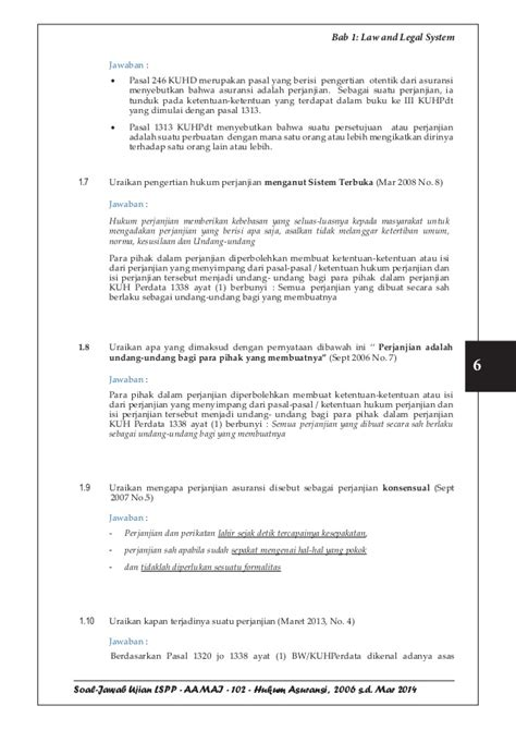 Pokok Pokok Hukum Asuransi tutorial lspp aamai 102 hukum asuransi edisi maret 2015