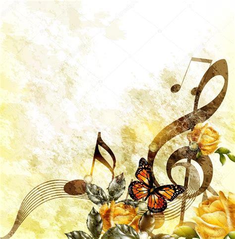 imagenes de rosas musicales fondo rom 225 ntico de la m 250 sica grunge con notas y rosas