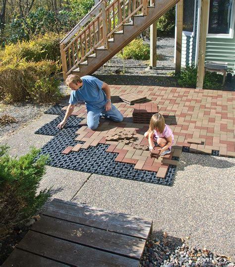 resurfacing patios is a with azek pavers diy