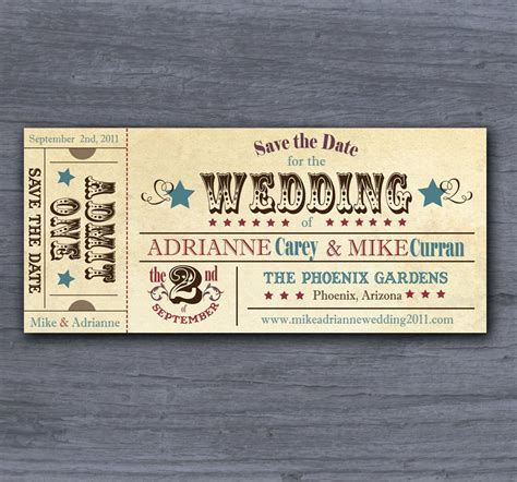 save the date ticket template unavailable listing on etsy