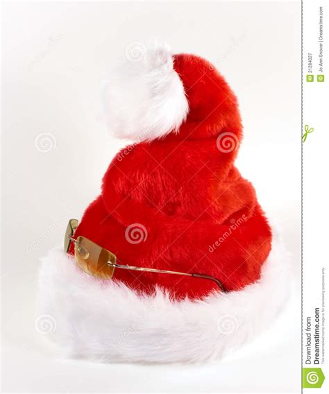cool perky santa hat royalty free stock photography