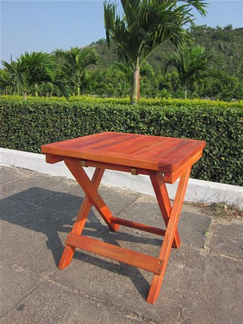Small Folding Patio Side Table Wooden Folding Square Table Outdoor Garden Patio Small Side Coffee 50cm 40cm Ebay