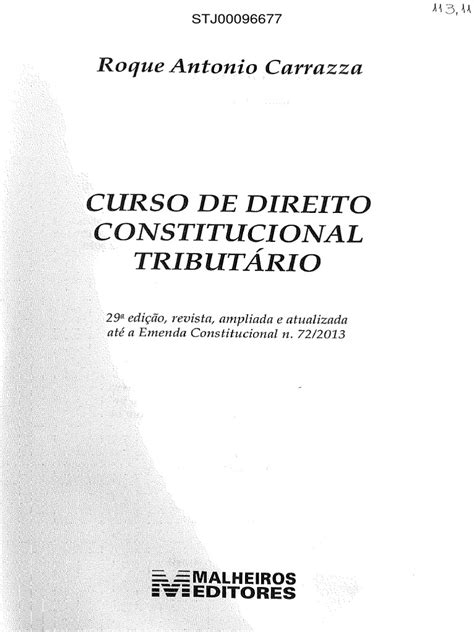 Curso Direito Constitucional Tributário 29.Ed | Federação