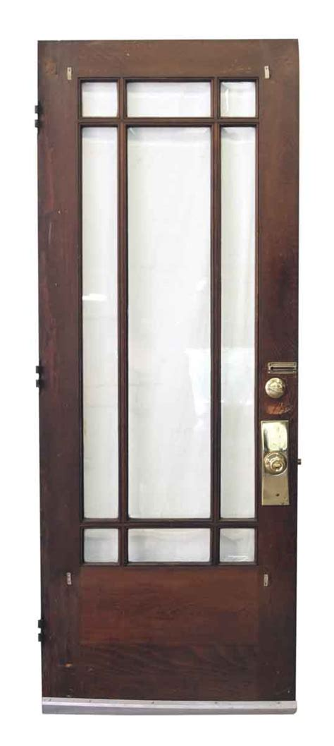 Glass Panel Doors Exterior Arts Crafts Style Entry Doors With Glass Panels Olde Things