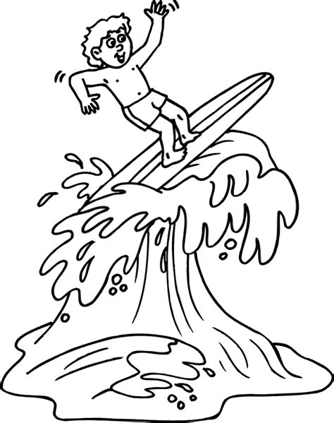 Surfer Coloring Pages sketch template