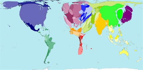 map of the world newman worldmapper the world as you ve never seen it before
