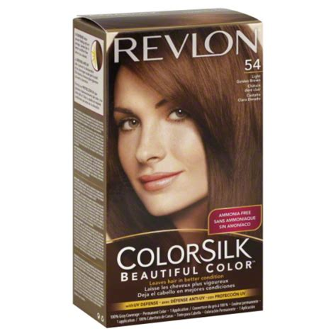 Revlon Colorsilk 54 Lgold Brown revlon colorsilk 54 light golden brown