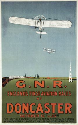 englands  aviation races  doncaster gnr poster