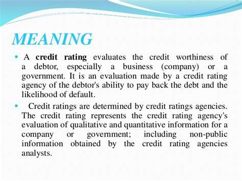Creditworthiness Formula Credit Rating