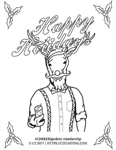 deer stand coloring pages c2 s holiday hipster deer goes buck wild c2 staffing