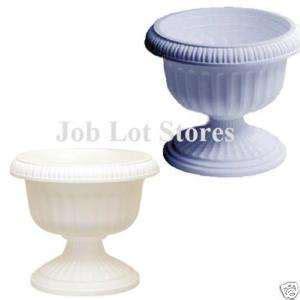 15 flower pots plastic terracotta color 8 inch heavy duty