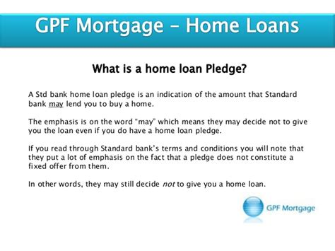 standard bank home loans standard bank home loan pledge