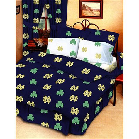 notre dame bedding notre dame fighting irish 100 cotton sateen twin bed in a bag