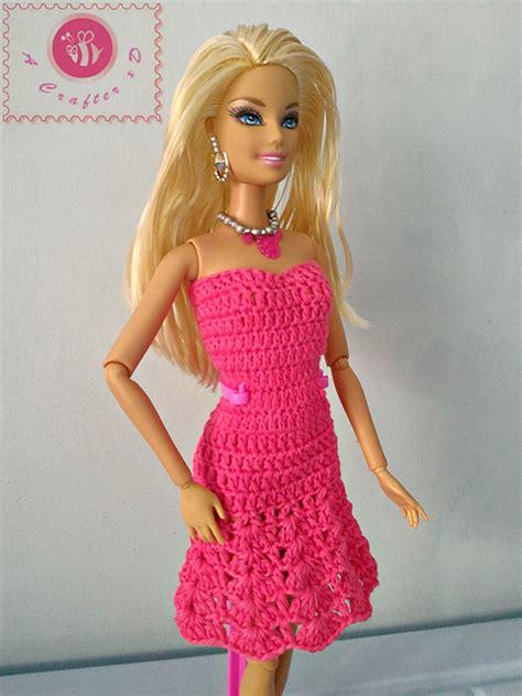 fashion doll dress patterns crochet patterns galore fashion doll strapless flared dress