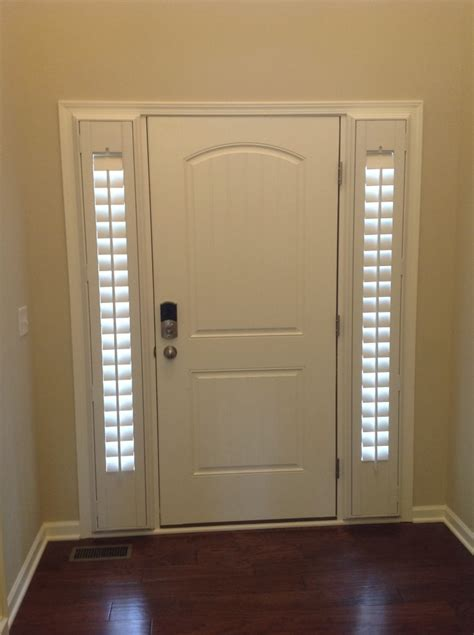 Entry Door With Side Windows Entry Door Sidelight Window Shutters Cleveland Shutters