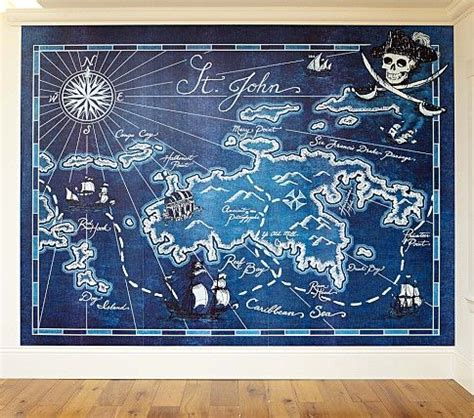pottery barn wall murals pirate map mural on discover the best trending