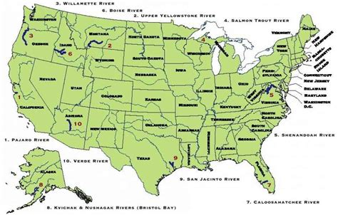 map usa rivers states map of rivers in america holidaymapq