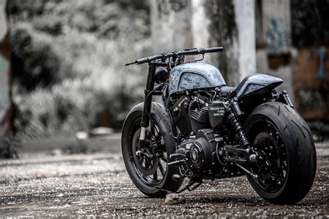 by brock cardiner harley forty eight custom motorcycle by rough crafts harley davidson forty eight hooligan tactics by rough