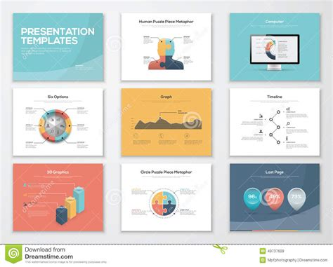 presentation design templates business presentation templates and infographics vector