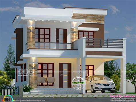 3 bhk flat roof contemporary house kerala home design and floor plans 1656 sq ft 3 bedroom flat roof home kerala home design and floor plans