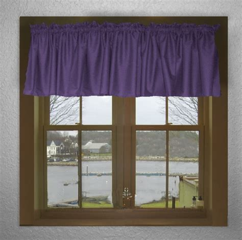 purple valance curtains solid purple color valance in many lengths custom size